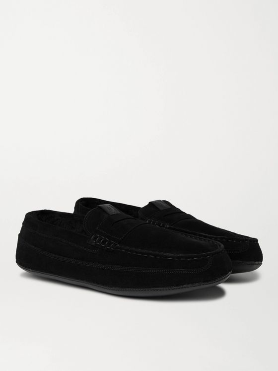 Grenson Sly Shearling-Lined Suede Slippers