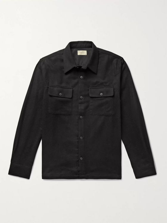 Nudie Jeans Sten Wool-Blend Flannel Shirt