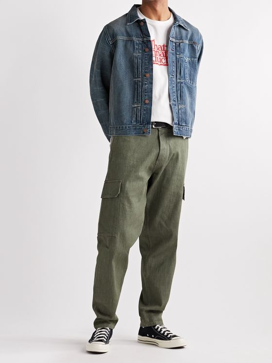 Nudie Jeans Vinny Pleated Organic Denim Jacket