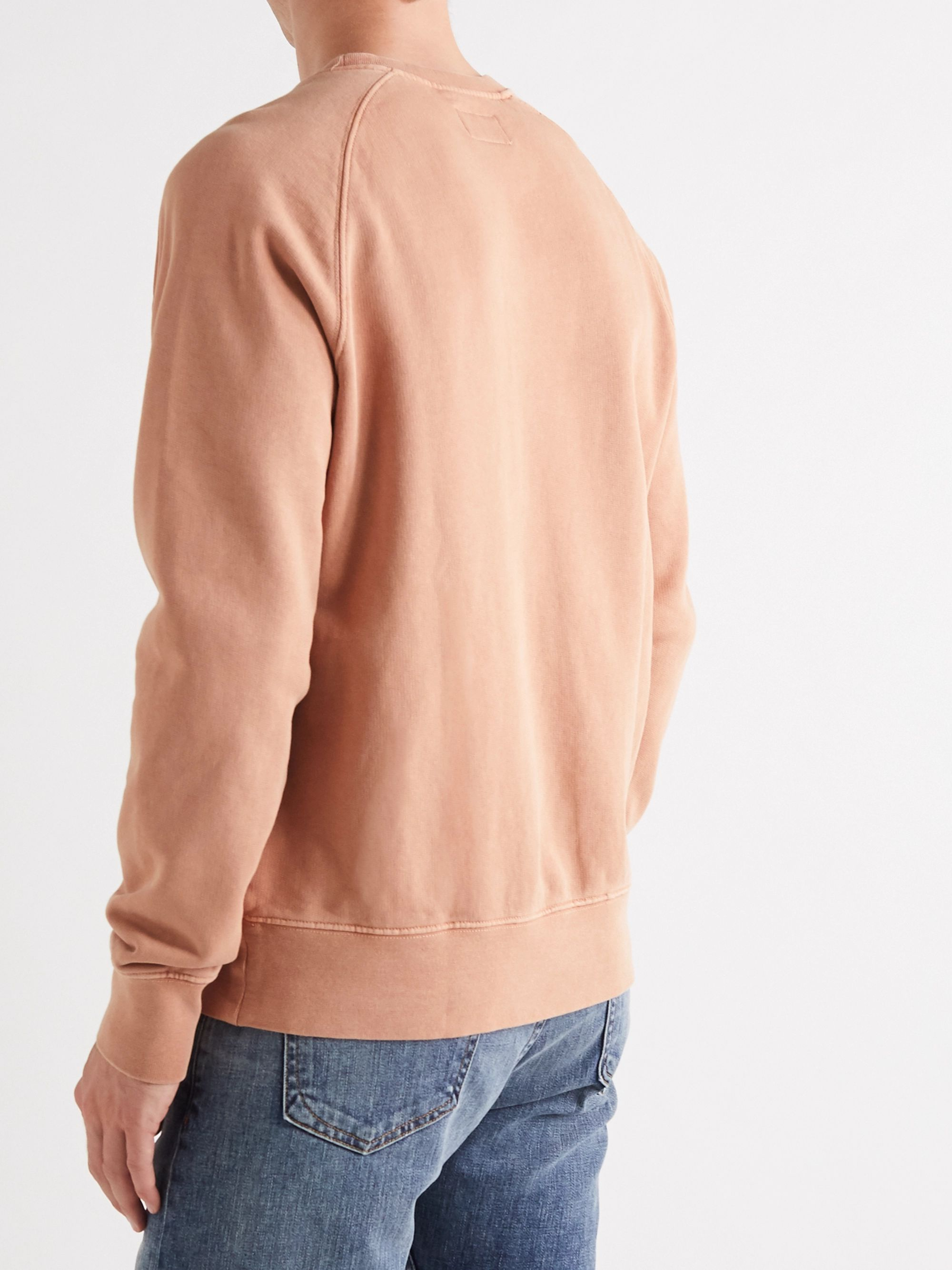 Nudie Jeans Melvin Logo-Appliquéd Loopback Cotton-Jersey Sweatshirt