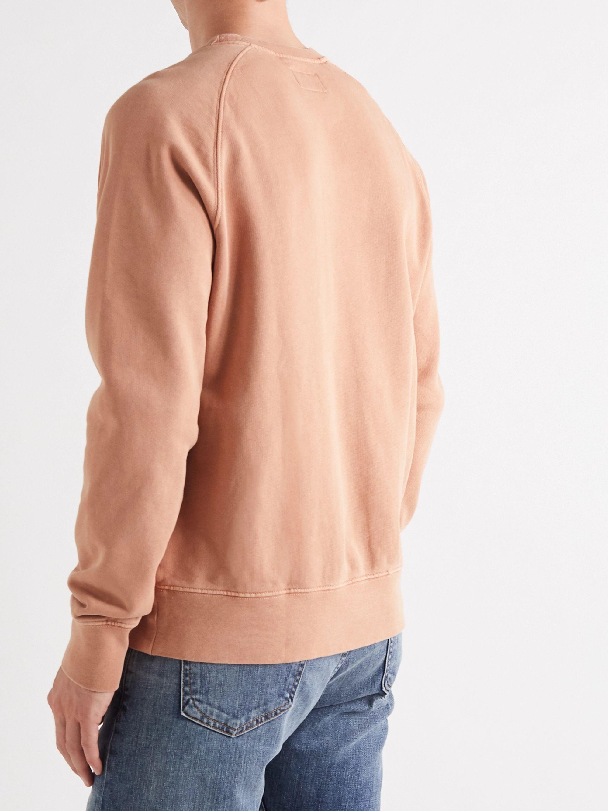 Antique Rose Melvin Logo-appliquéd Loopback Cotton-jersey Sweatshirt | Nudie Jeans