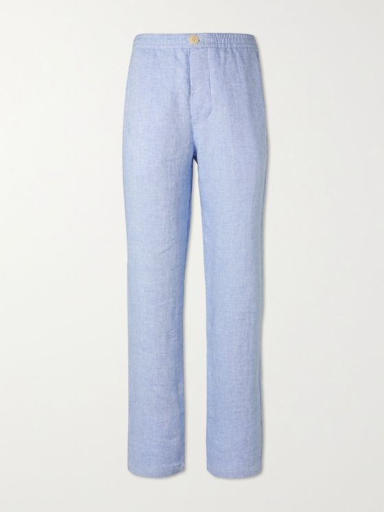OLIVER SPENCER Linen Suit Trousers