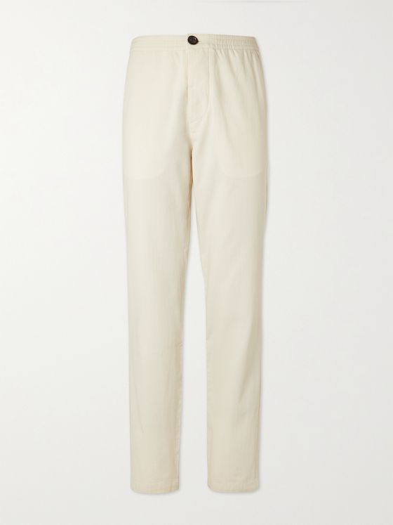 OLIVER SPENCER Cotton Suit Trousers
