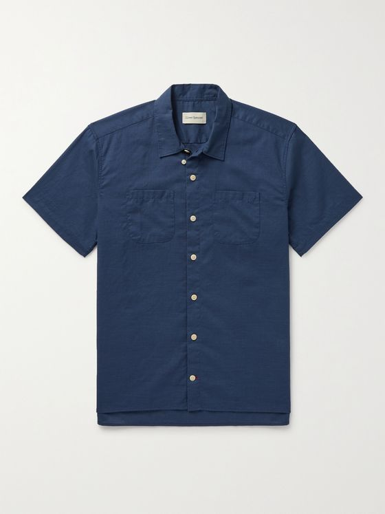 OLIVER SPENCER Convertible-Collar Cotton Shirt