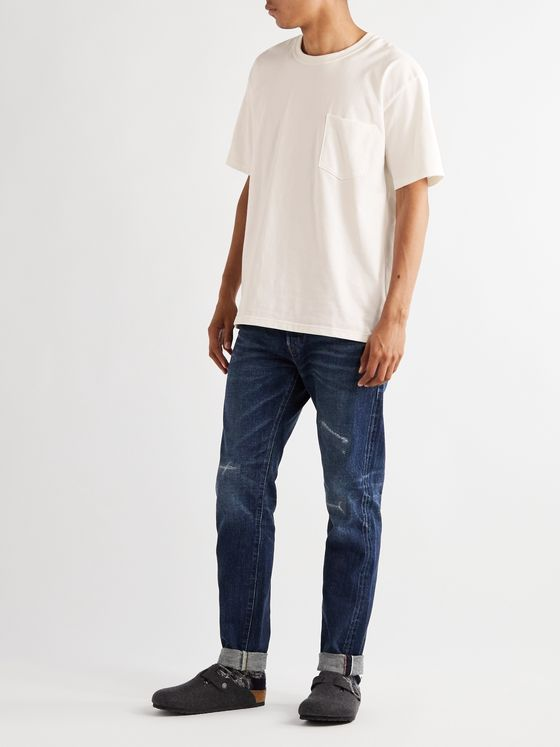 OrSlow Oversized Embroidered Cotton-Jersey T-Shirt