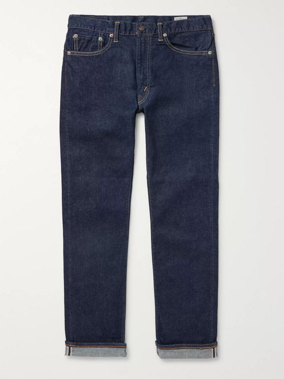 OrSlow 107 Slim-Fit Stretch-Denim Jeans