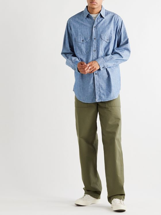 OrSlow Cotton-Chambray Shirt