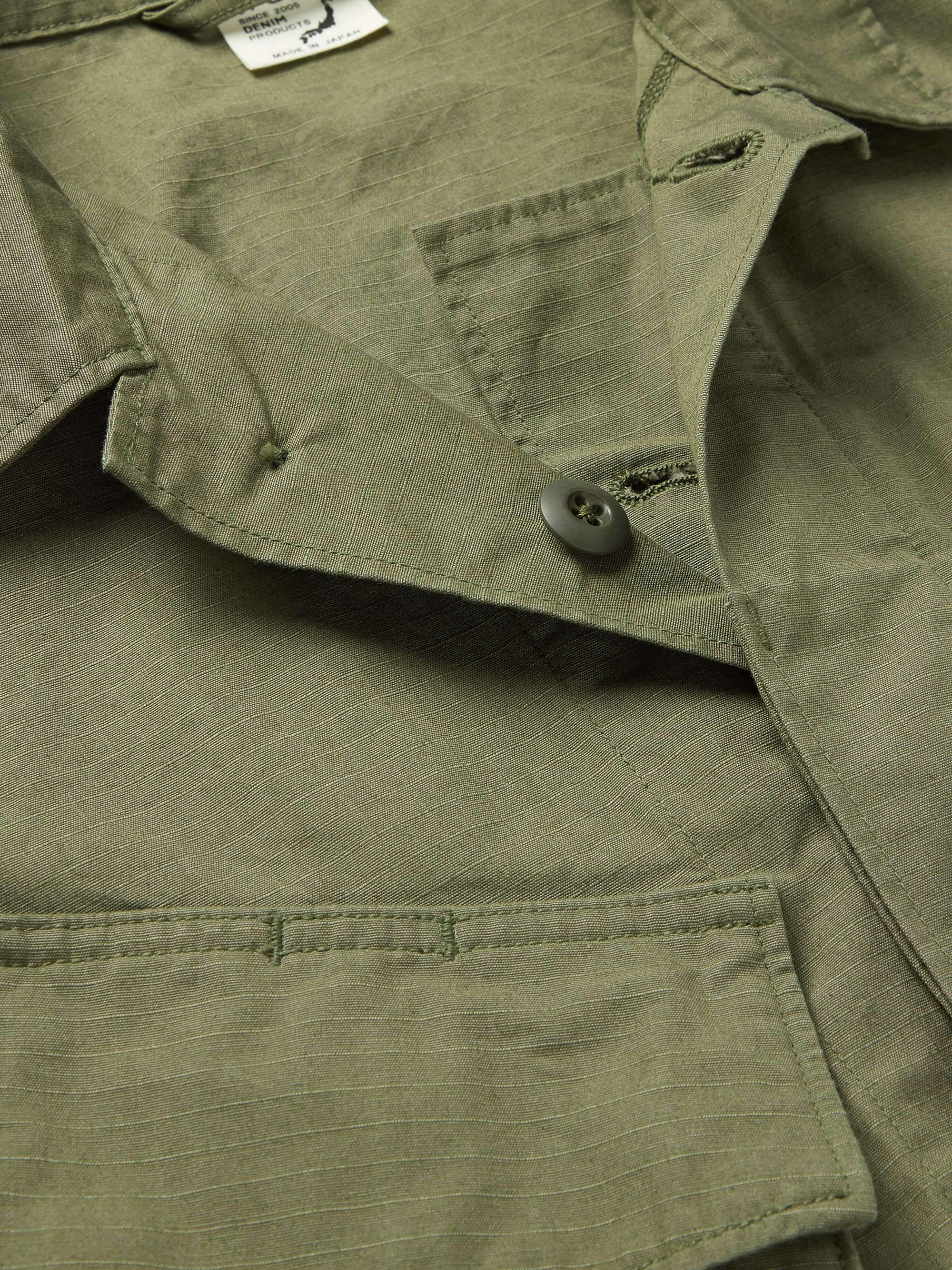 Army Green Cotton-ripstop Field Jacket | Orslow