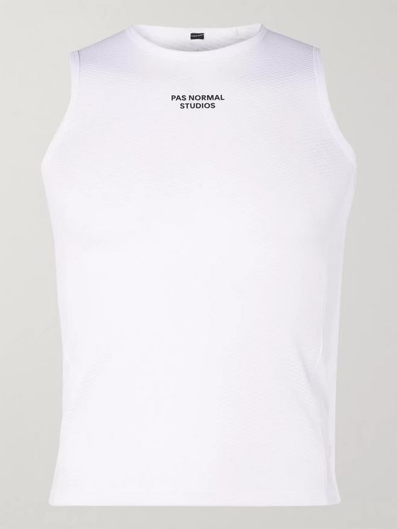 Pas Normal Studios Logo-Print Stretch-Mesh Cycling Base Layer