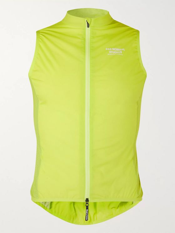 Pas Normal Studios Neon Logo-Print Nylon Cycling Gilet