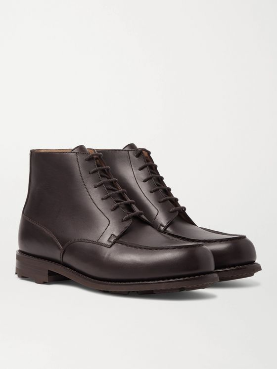 J.M. Weston Leather Derby Boots
