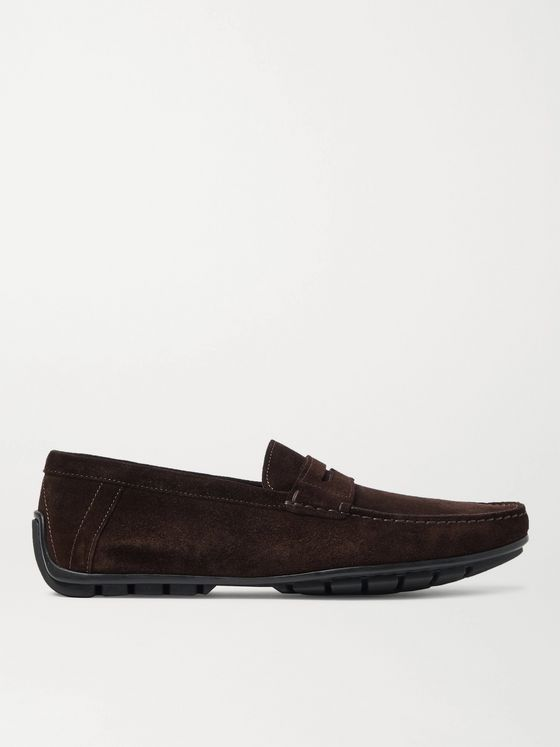 J.M. Weston Ajaccio Suede Driving Shoes