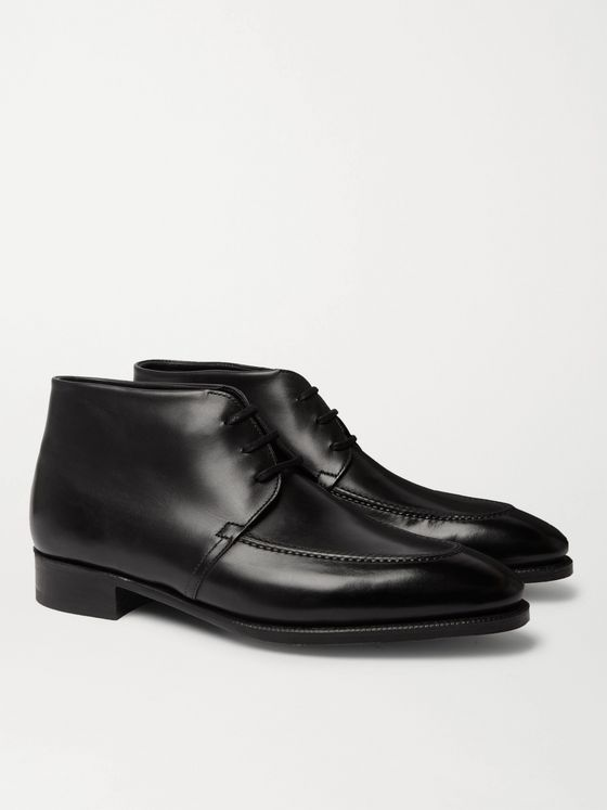 John Lobb Alston Polished-Leather Derby Boots