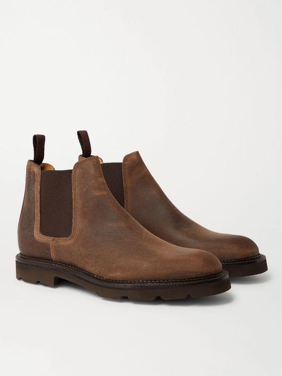 Men's Brown Suede 'Canon' Chelsea Boots