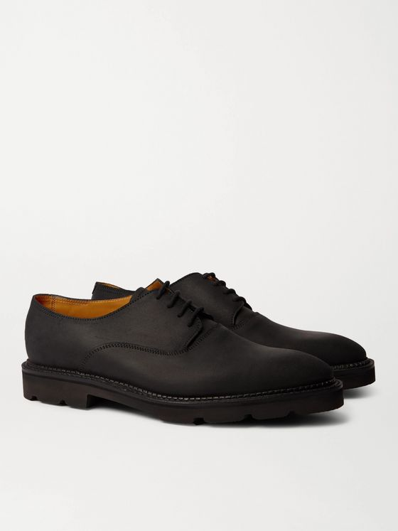 John Lobb Milton Waxed-Leather Derby Shoes