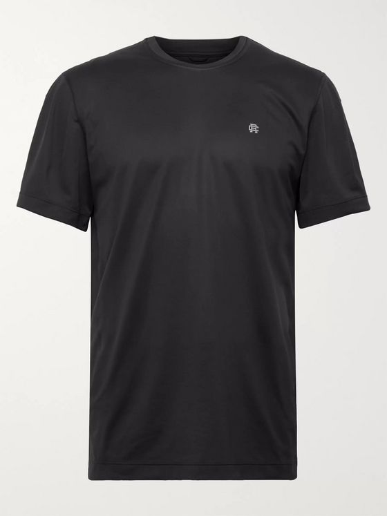 REIGNING CHAMP Hybrid Stretch-Jersey and Mesh T-Shirt