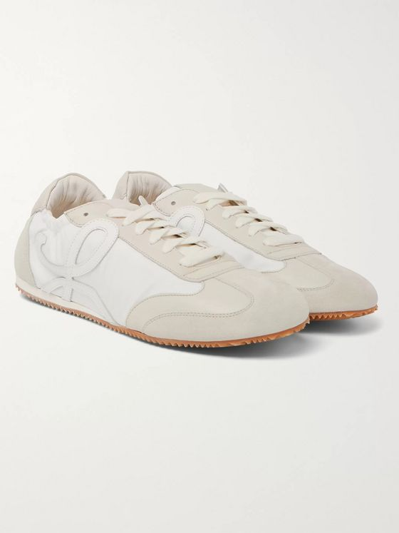 Loewe Ballet Leather and Suede-Trimmed Nylon Sneakers