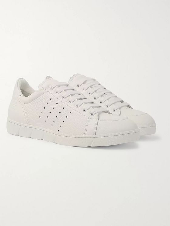 Loewe Smooth and Full-Grain Leather Sneakers