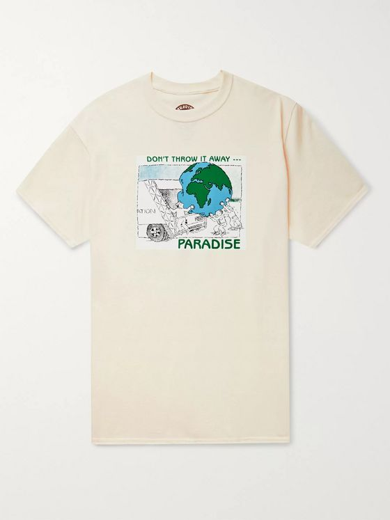 PARADISE Don't Throw it Away Printed Cotton-Jersey T-Shirt