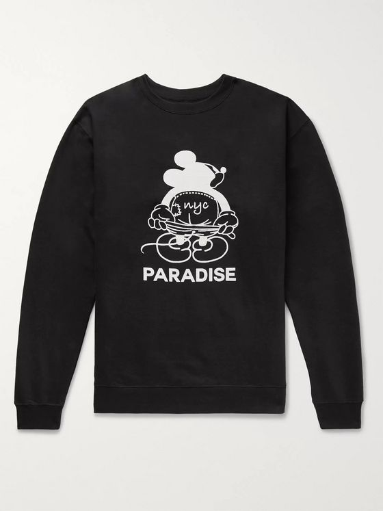 PARADISE Mickey Moon Printed Cotton-Blend Jersey Sweatshirt