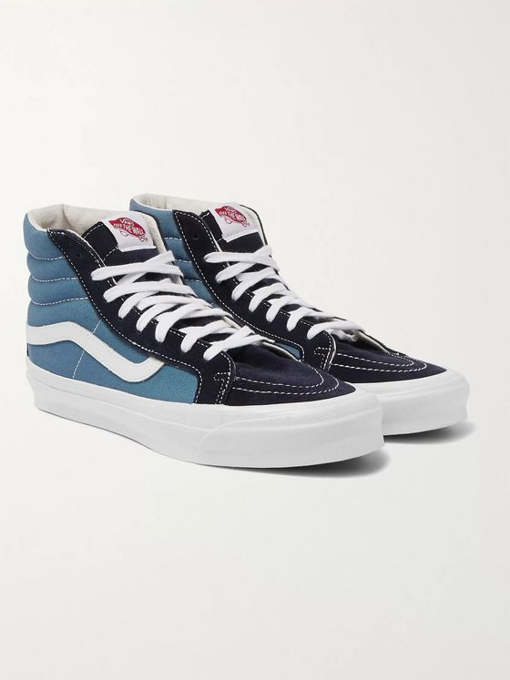 Vans OG SK8-HI LX Leather-Trimmed Canvas and Suede High-Top Sneakers