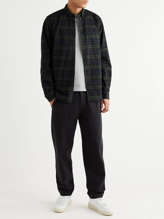 Norse Projects Anton Button-Down Collar Checked Brushed Cotton-Flannel Shirt