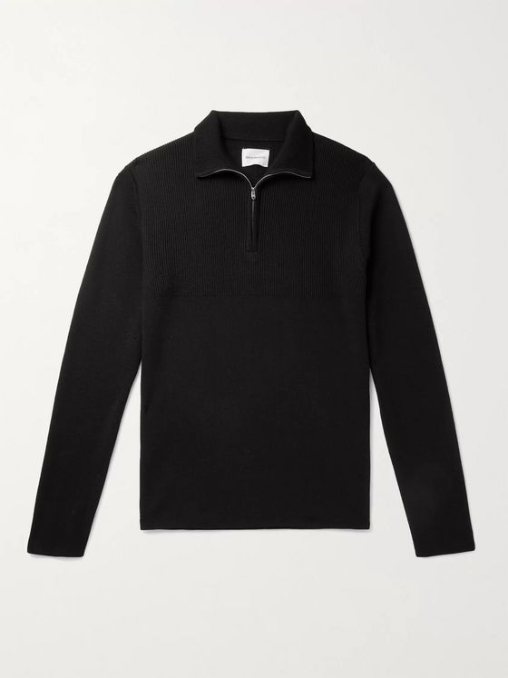 Norse Projects Fjord Merino Wool Half-Zip Sweater