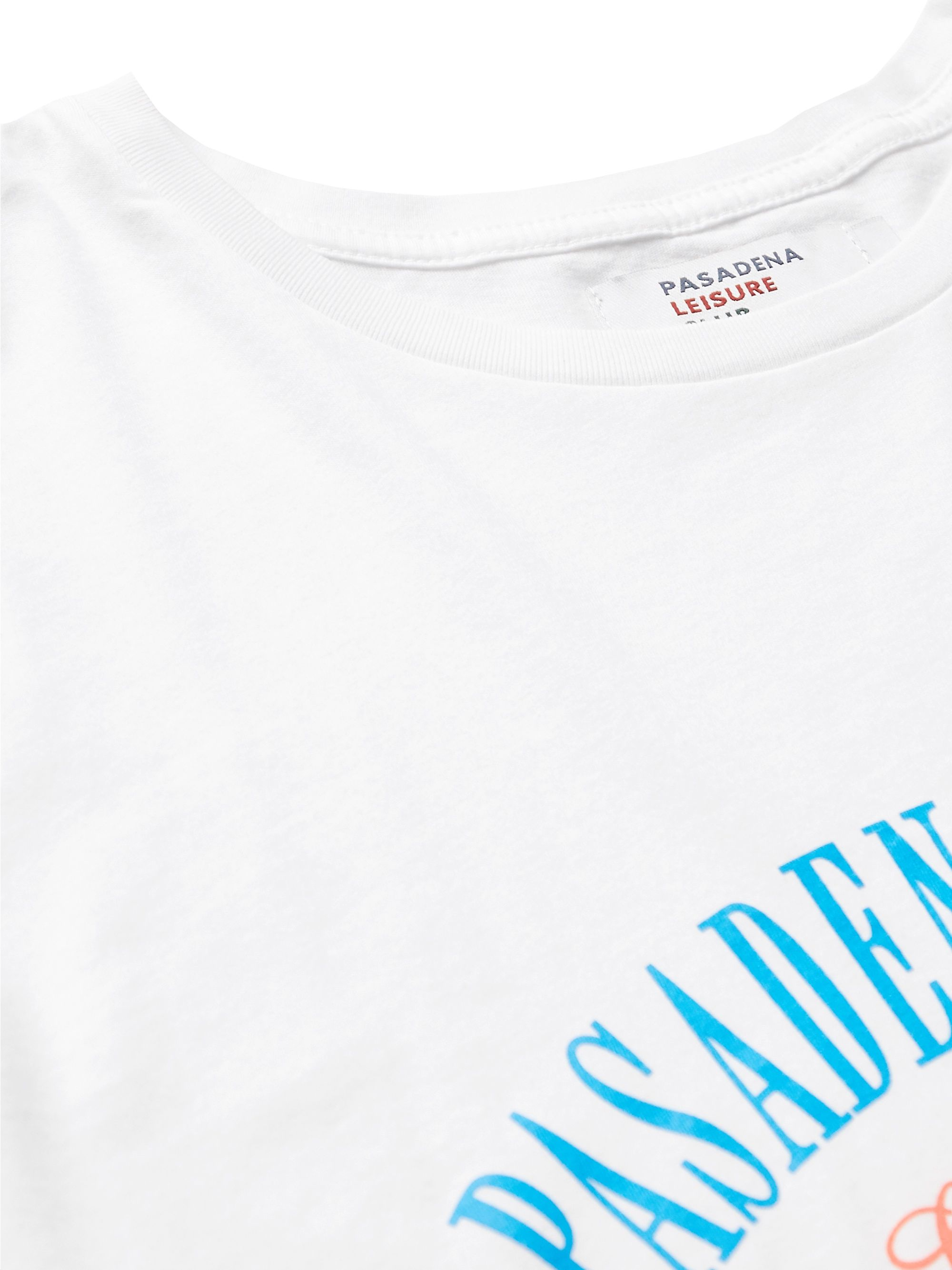 White Sporting Club Logo-print Enzyme-washed Combed Cotton-jersey T-shirt | Pasadena Leisure