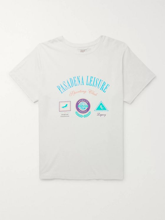 Pasadena Leisure Club Sporting Club Logo-Print Enzyme-Washed Combed Cotton-Jersey T-Shirt