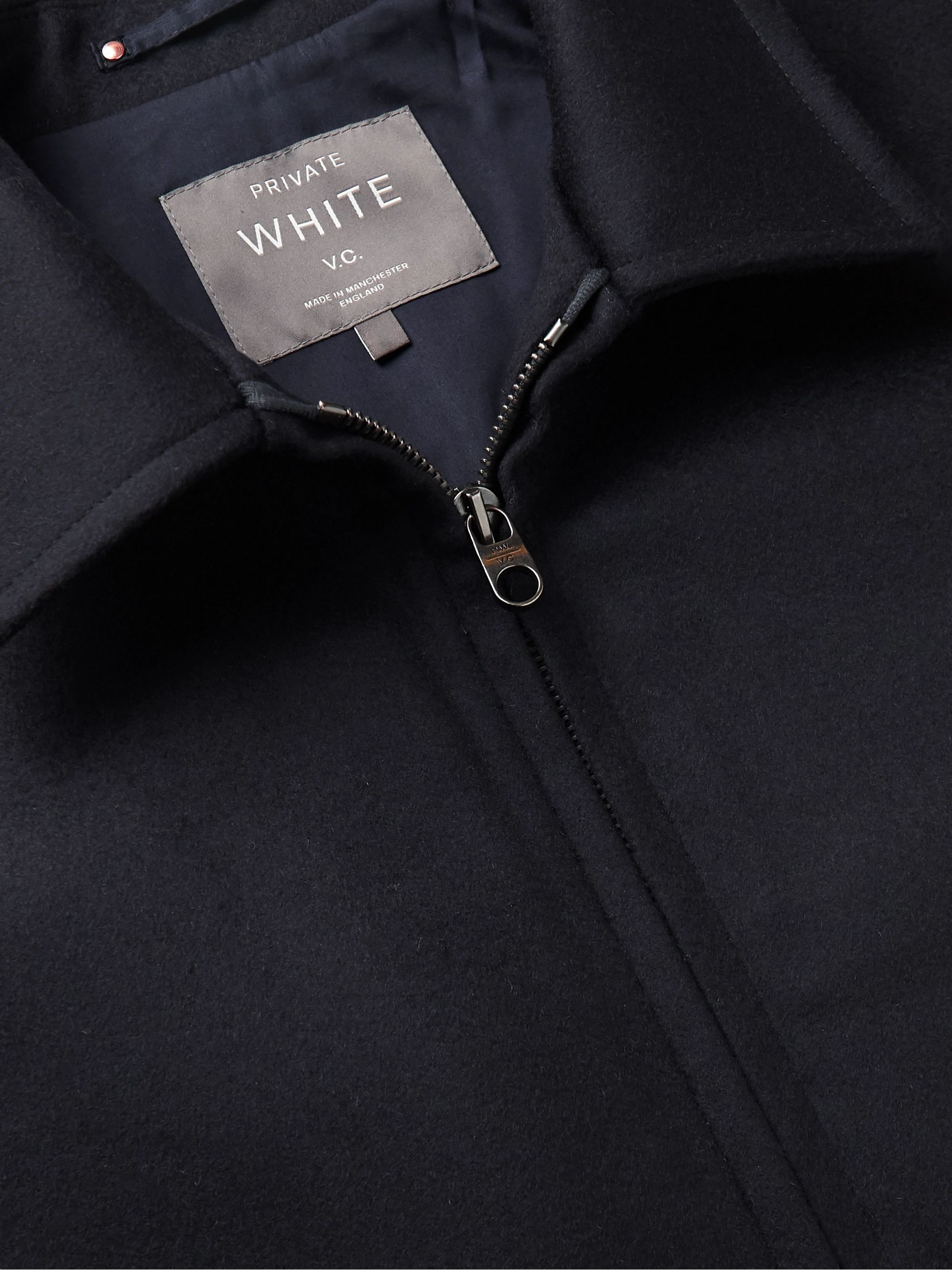 Private White V.C. Wool-Felt Bomber Jacket
