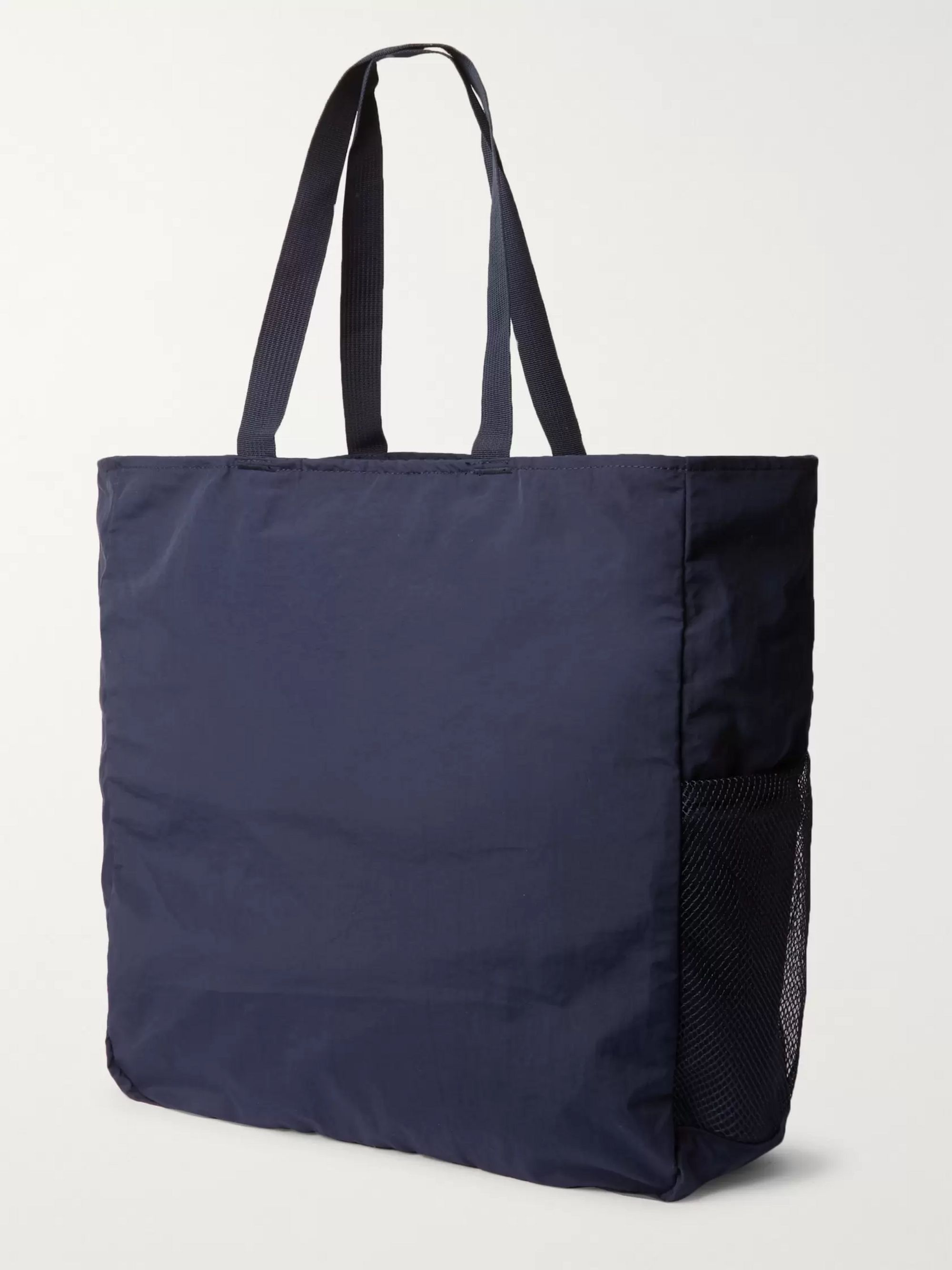Pop Trading Company Packable Mesh-Trimmed Shell Tote Bag