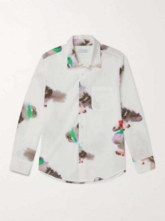 Pop Trading Company Pigeon Printed Cotton-Poplin Shirt
