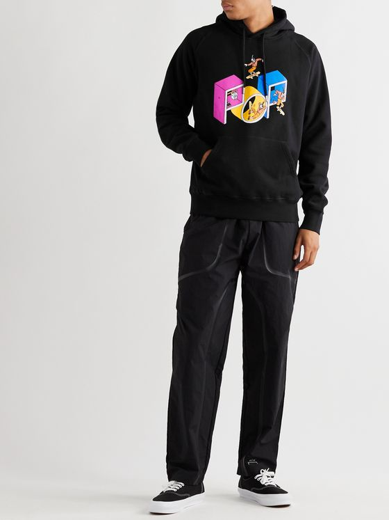 Pop Trading Company + Joost Swarte Printed Fleece-Back Cotton-Jersey Hoodie