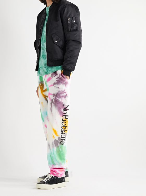 Aries No Problemo Tapered Tie-Dyed Fleece-Back Cotton-Jersey Sweatpants