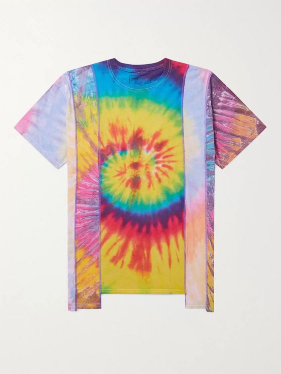 Needles Patchwork Tie-Dyed Cotton-Jersey T-Shirt
