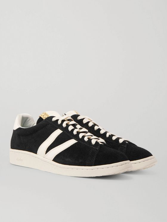 visvim Corda-Folk Leather-Trimmed Suede Sneakers