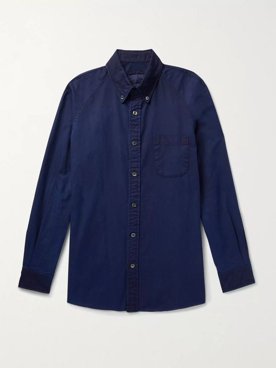 Blue Blue Japan Button-Down Collar Indigo-Dyed Cotton Oxford Shirt