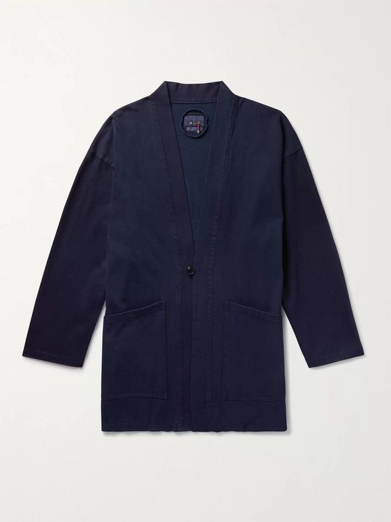 Blue Blue Japan Indigo-Dyed Cotton-Jersey Cardigan