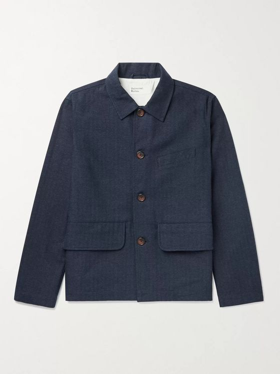 Universal Works Warmus II Herringbone Cotton-Blend Jacket