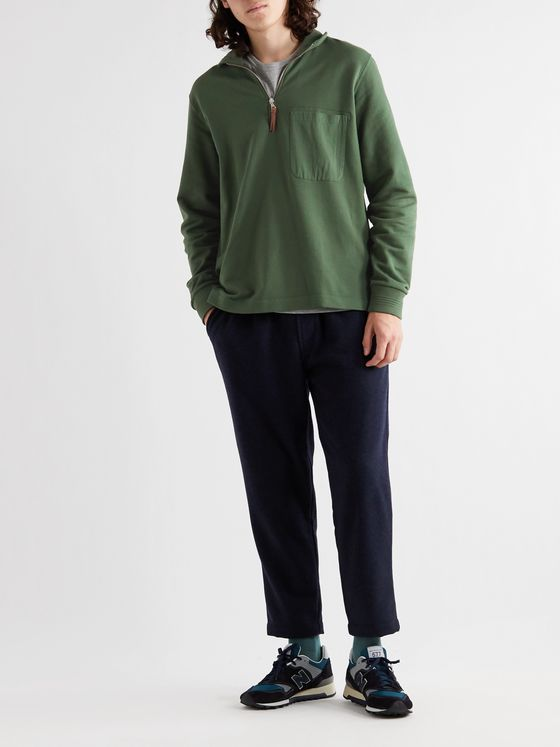 Albam Loopback Cotton-Jersey Half-Zip Sweatshirt