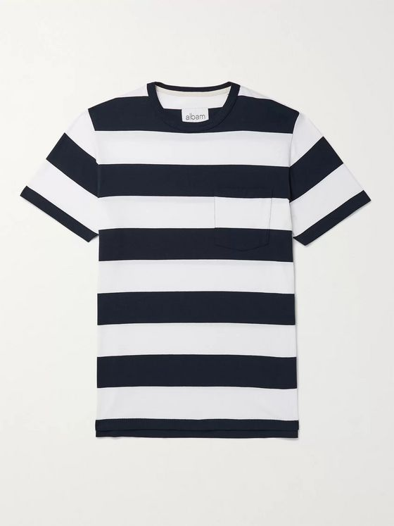 Albam Striped Cotton-Jersey T-Shirt