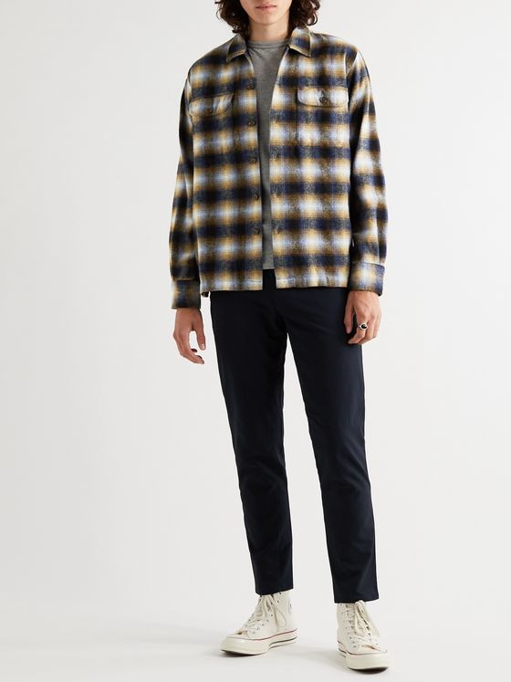 Universal Works Texas Checked Wool-Blend Shirt