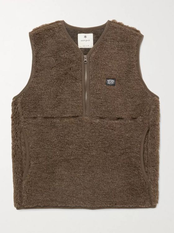 Snow Peak Wool-Fleece Half-Zip Gilet