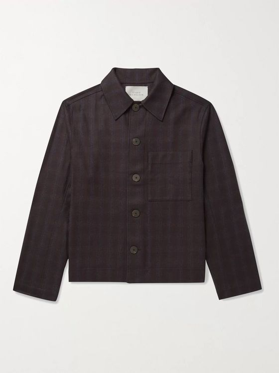 Studio Nicholson Prince of Wales Checked Wool Blouson Jacket