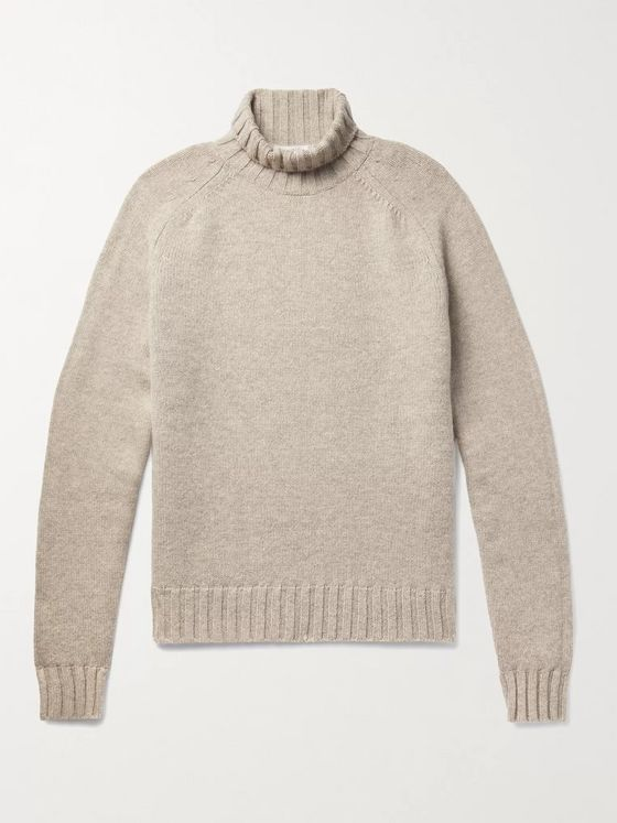 Studio Nicholson Mélange Wool Rollneck Sweater