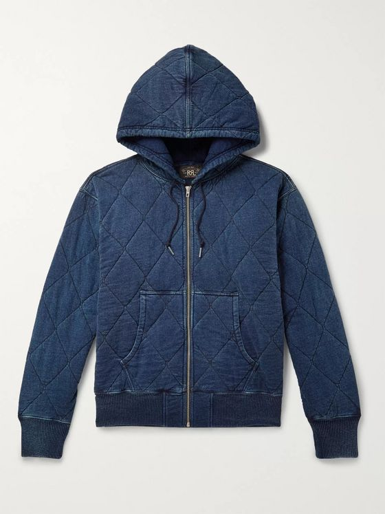 RRL Quilted Cotton-Jersey  Zip-Up Hoodie