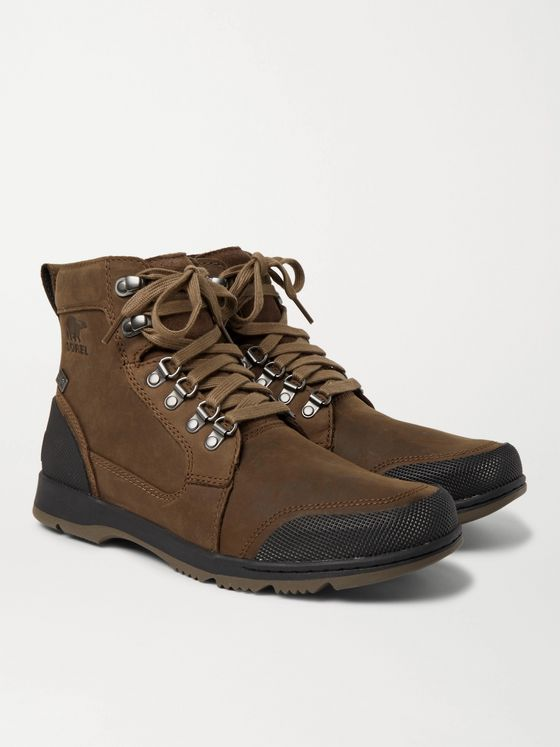 SOREL Ankeny II Rubber-Trimmed Leather Boots