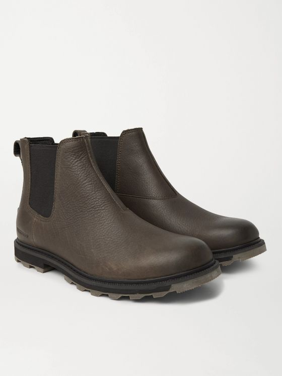 SOREL Madson II Burnished Textured-Leather Chelsea Boots