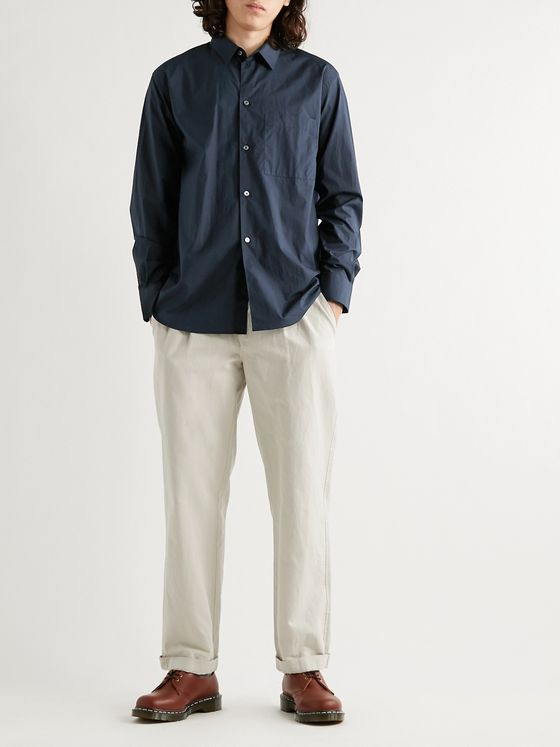 Studio Nicholson Cotton-Blend Poplin Shirt