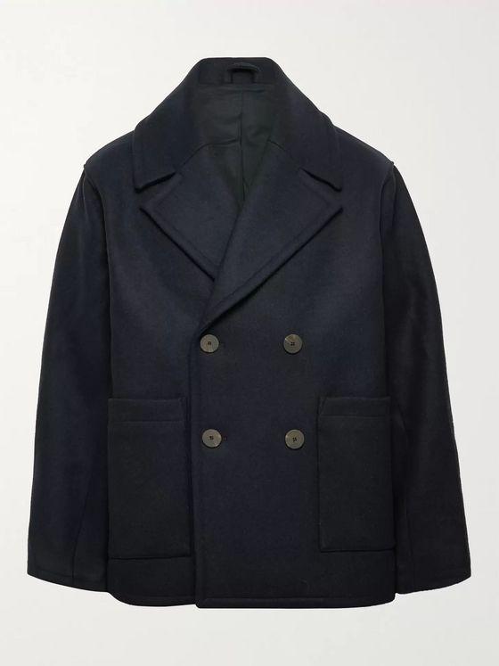 Studio Nicholson Kenton Wool-Blend Peacoat